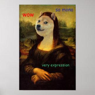 Mona Lisa künstlerischer Doge Poster