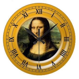 Mona Lisa, Leonardo da Vinci Große Wanduhr