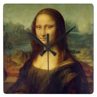 Mona Lisa - Leonardo da Vinci Quadratische Wanduhr
