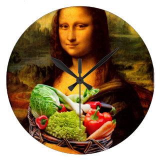 Mona Lisa Liebe-Gemüse Große Wanduhr