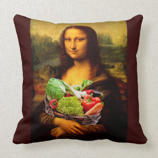 Mona Lisa Liebe-Gemüse Kissen