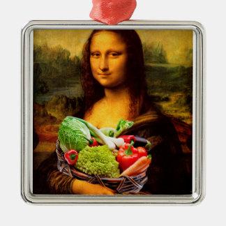 Mona Lisa Liebe-Gemüse Silbernes Ornament