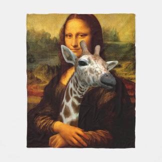 Mona Lisa Liebe-Giraffen Fleecedecke