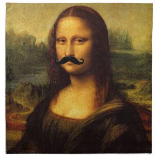 Mona Lisa mit dem großen Schnurrbart Stoffserviette