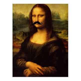 Mona Lisa mit dem Schnurrbart Postkarten