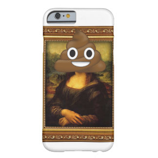 Mona Lisa mit glücklichem kacken Barely There iPhone 6 Hülle