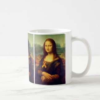 Mona Lisa mit orange Band Kaffeetasse