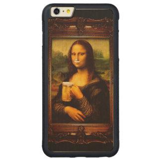 Mona Lisa - Mona Lisa Bier - lustiges Mona Carved® Maple iPhone 6 Plus Bumper Hülle