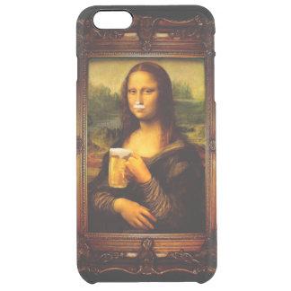 Mona Lisa - Mona Lisa Bier - lustiges Mona Durchsichtige iPhone 6 Plus Hülle