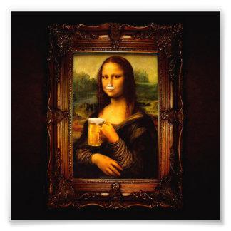 Mona Lisa - Mona Lisa Bier - lustiges Mona Fotodruck