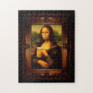 Mona Lisa - Mona Lisa Bier - lustiges Mona Puzzle