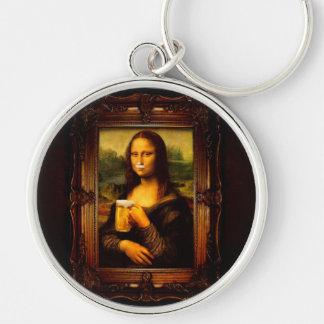 Mona Lisa - Mona Lisa Bier - lustiges Mona Schlüsselanhänger