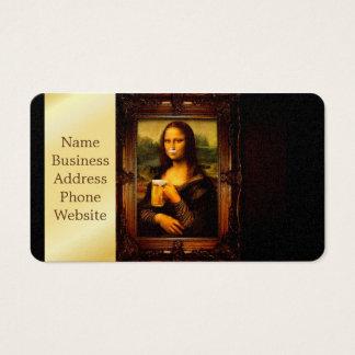 Mona Lisa - Mona Lisa Bier - lustiges Mona Visitenkarte