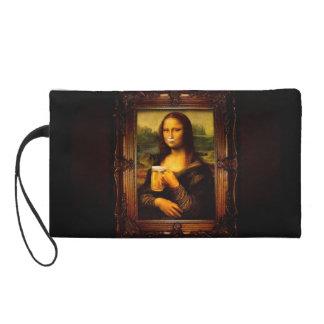 Mona Lisa - Mona Lisa Bier - lustiges Mona Wristlet Handtasche