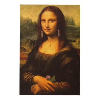 Mona Lisa relookée Holzdruck