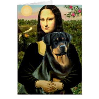 Mona Lisa - Rottweiler (#3) Karte
