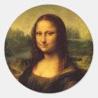 Mona Lisa Runder Aufkleber