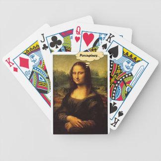Mona Lisa Stachelschweine Bicycle Spielkarten
