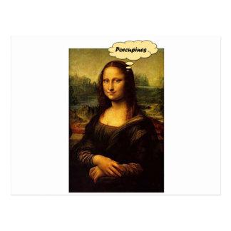 Mona Lisa Stachelschweine Postkarte