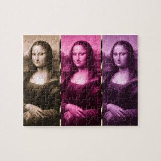 Mona Lisa Tierdruck-lila rosa Schokolade Puzzle