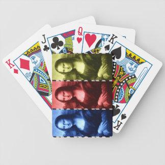 Mona Lisa Tierdruck-Primärfarben Bicycle Spielkarten