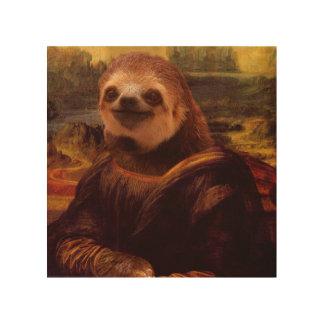 Mona Lisa Trägheit Holzdruck