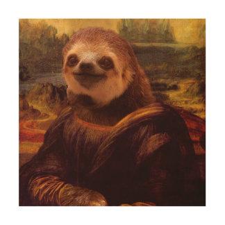 Mona Lisa Trägheit Holzwanddeko