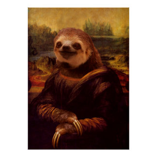 Mona Lisa Trägheit Poster