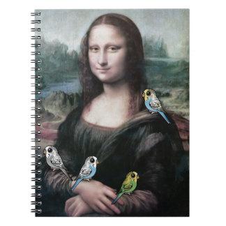 Mona Lisa u. Budgies Spiral Notizblock