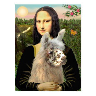 Mona Lisa u. ihr Lama Postkarte