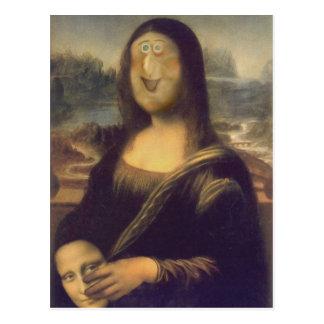 Mona Lisa Unmasked Postkarte