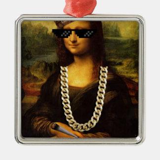 Mona Lisa Verbrecher-Leben-Kunst-Leben Silbernes Ornament