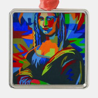 Mona Lisa Wpap Silbernes Ornament