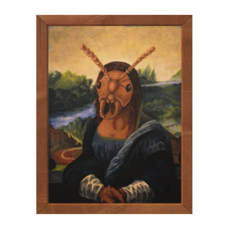 Mona Lisant Holzwanddeko