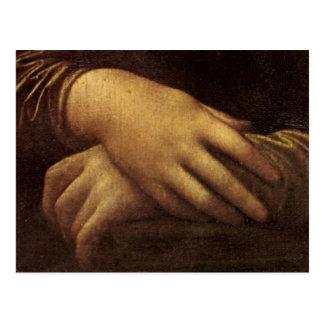 Mona Lisas Hand durch Leonardo da Vinci C. Postkarte