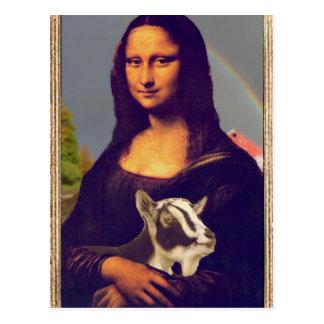Mona Lisas Ziege Postkarte