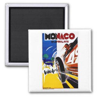 Monaco 1931 Grandprix - Vintages Rennen-Plakat Quadratischer Magnet