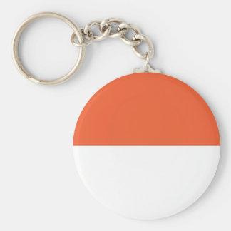 Monaco-Flagge Standard Runder Schlüsselanhänger