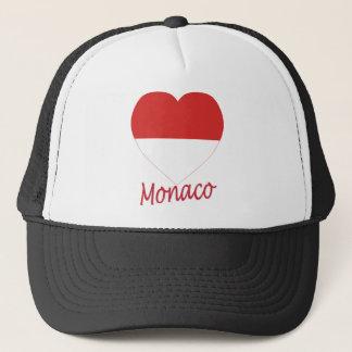 Monaco-Flaggen-Herz Truckerkappe