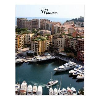 Monaco-Hafenleben Postkarte