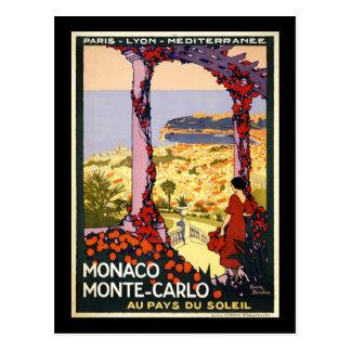 Monaco Monte Carlo Postkarte