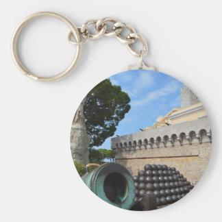 Monaco-Palast - Kanonenkugeln und Kanonen Schlüsselanhänger