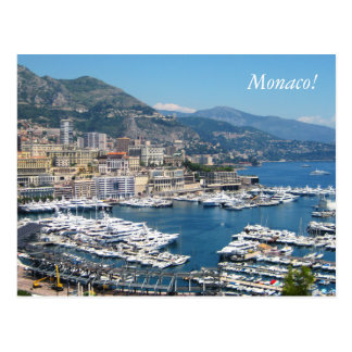 Monaco-Postkarte Postkarte