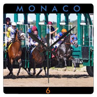 Monaco u. Javier Castellano Quadratische Wanduhr