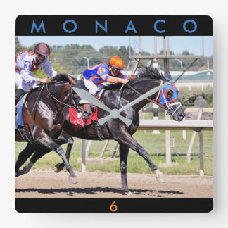 Monaco u. Verbündeter Quadratische Wanduhr