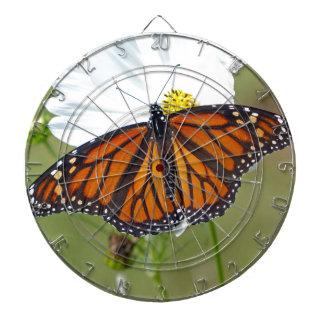 Monarch auf Kosmos Dartscheibe