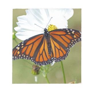 Monarch auf Kosmos Notizblock