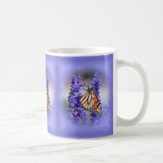 Monarch auf Salvia - Schmetterling Kaffeetasse