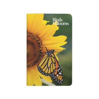 Monarch Butterfies auf Sonnenblume Taschennotizbuch