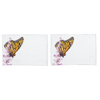 Monarch gehockt auf Lavendel Kissen Bezug